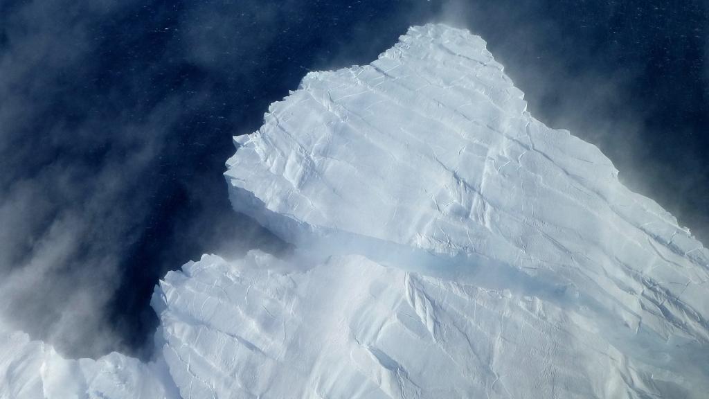 Pine Island Glacier calving front. NASA ICE