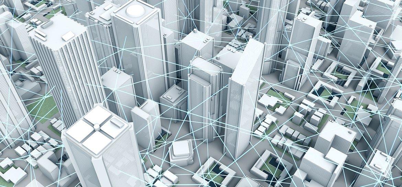 Smart City  Panorama: Smart Grids Illustration