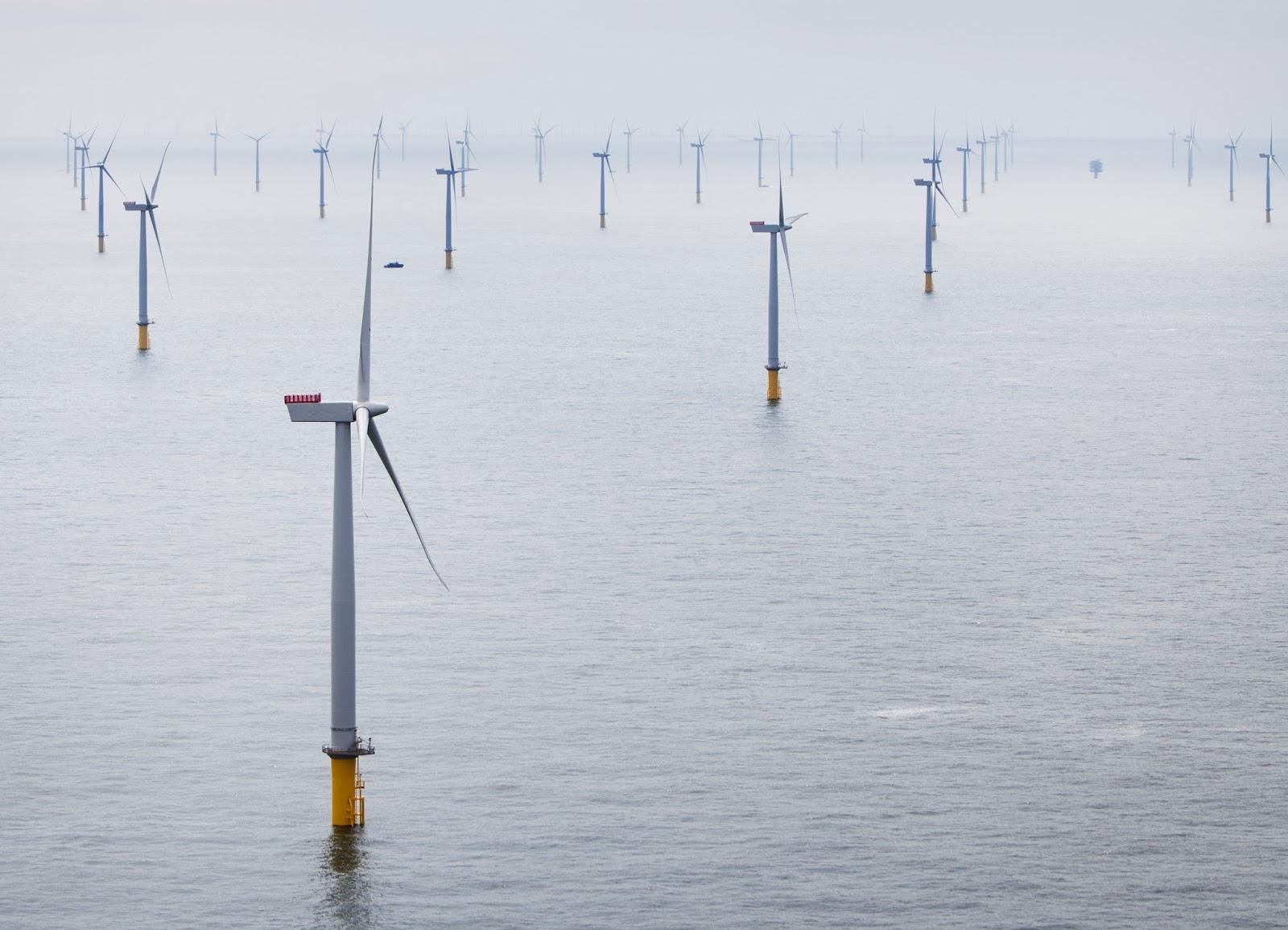 offshore wind farm Siemens wind turbines