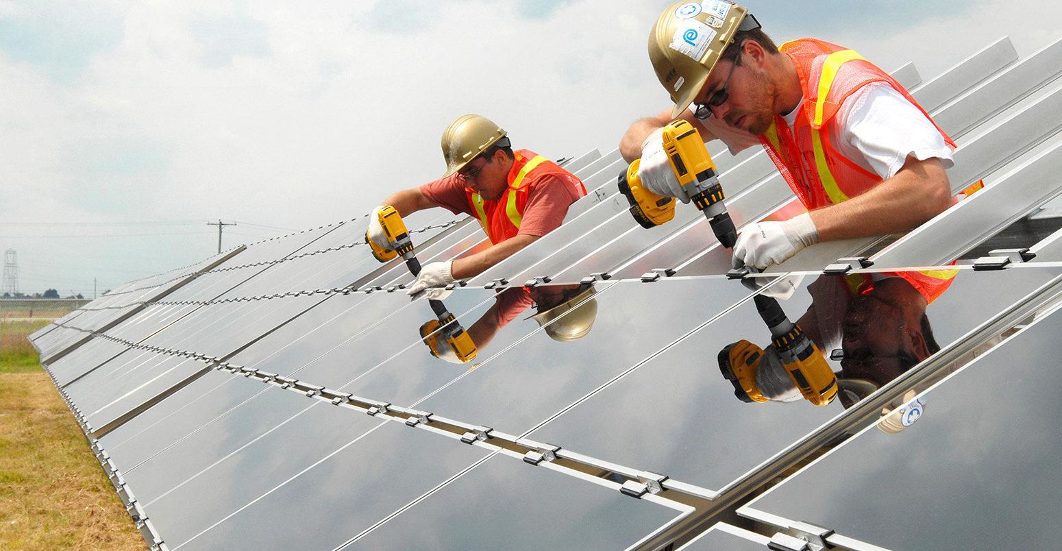 Construction of 175 acre Solar Farm; Contractor: M Sullivan & Sons; owner EDF EN Canada, EDG-Engeries Nouvelles, West Carleton Solar Farm; Galetta Sid