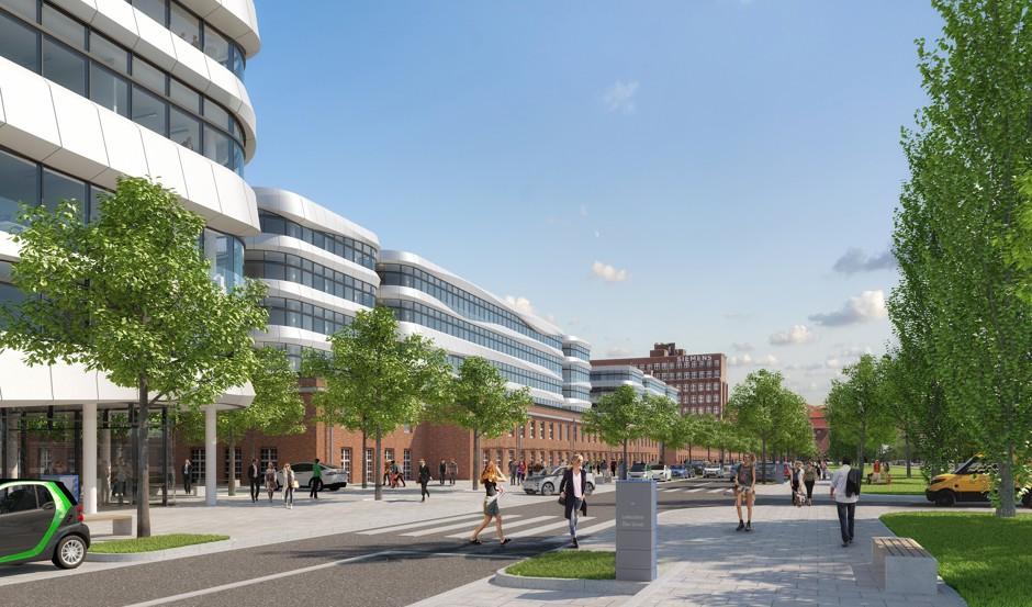 Rendering: Zukunftspakt Siemensstadt 2.0/Rendering: Future pact Siemensstadt 2.0